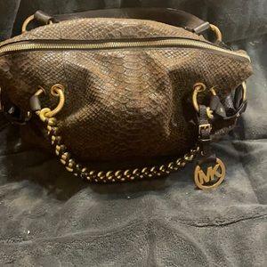 Michael Kors medium size python bag